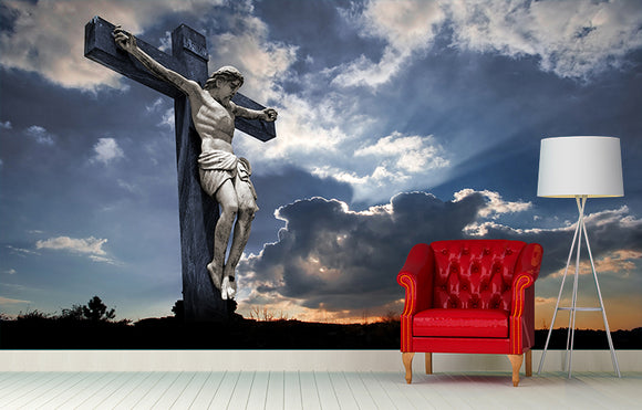 Jesus on the Cross Wall Mural Art - LA31 Store