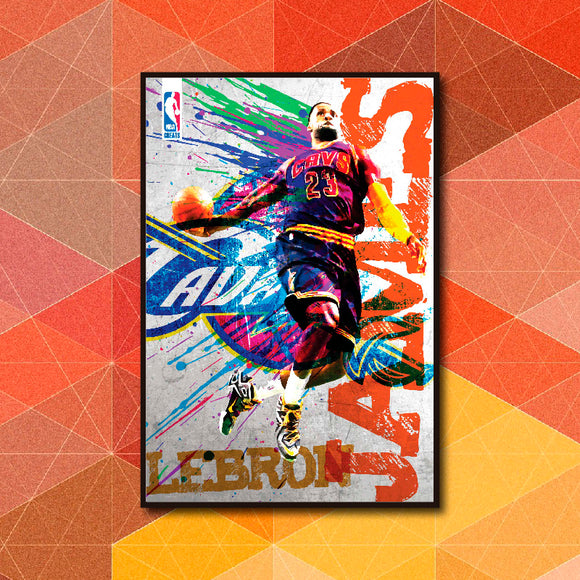NBA Greats - LeBron James Poster Art - LA31 Store