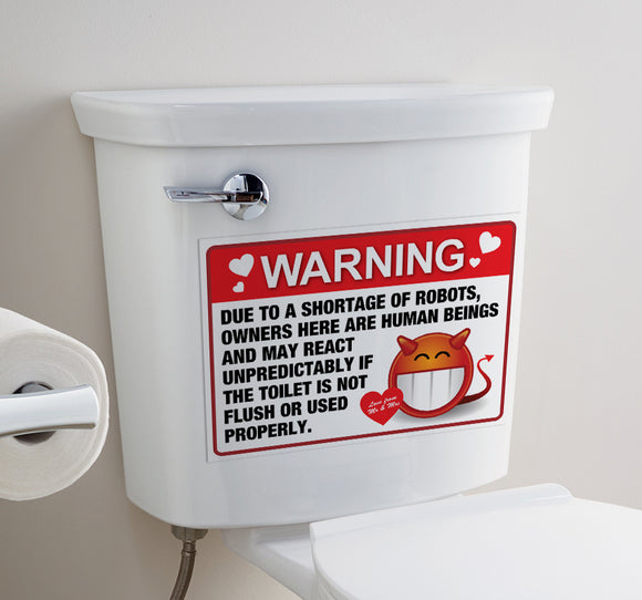 Love Warning - Toilet Art - LA31 Store