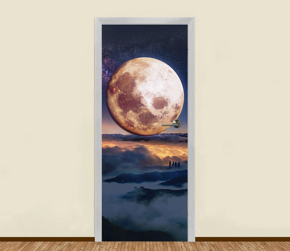 Full Moon Residential Door Art - LA31 Store