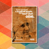 Feed Just One Quote - Mother Theresa Poster Art - LA31 Store