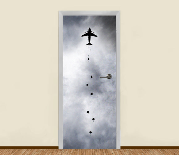 LA31 Paratroopers Airborne in the Sky Residential Door Art l Bomb Shelter Doors l Stickers l Mural l HDB l Condo l Living l Email: LamedAleph31@gmail.com