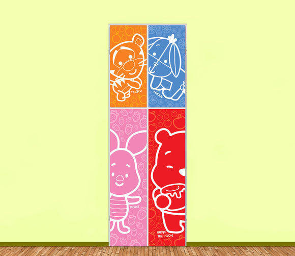 Baby Pooh Utility Cabinet Art (4pieces) - LA31 Store