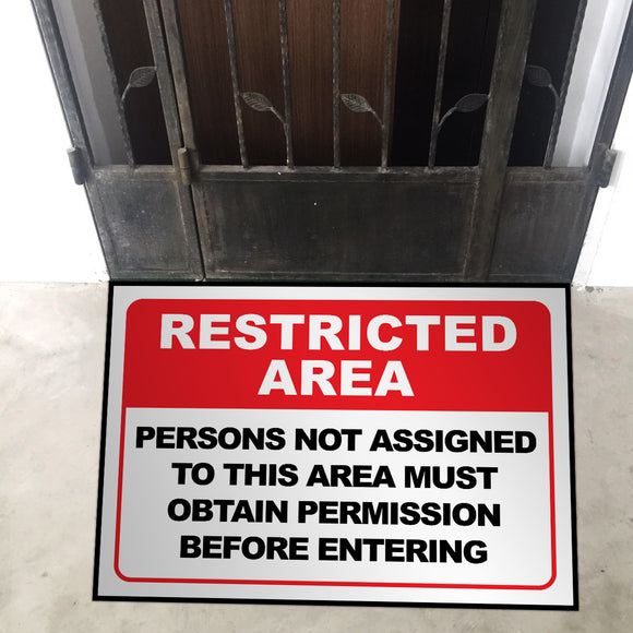 Restricted Area Door Entrance Floor Art - LA31 Store