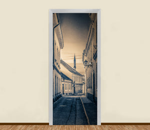 Small Alley Old Town Residential Door Art - LA31 Store