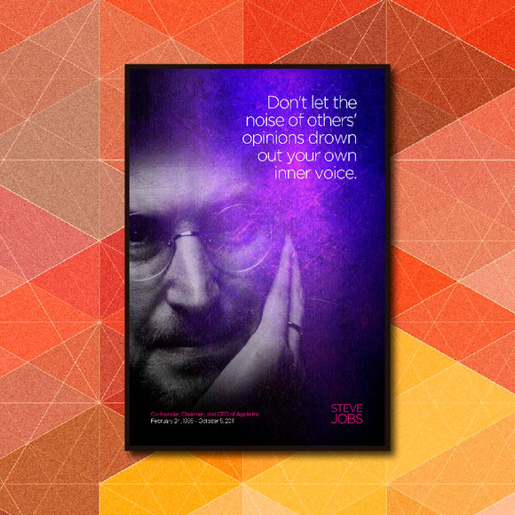 Your Inner Voice Quote - Steve Jobs Poster Art - LA31 Store