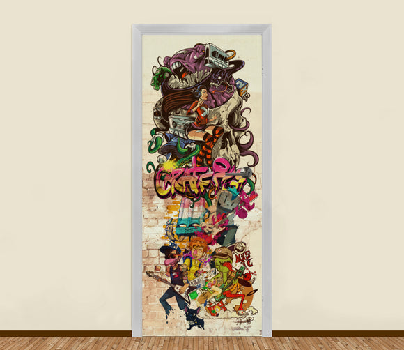 Street Graffiti Compilation 1 Residential Door Art - LA31 Store