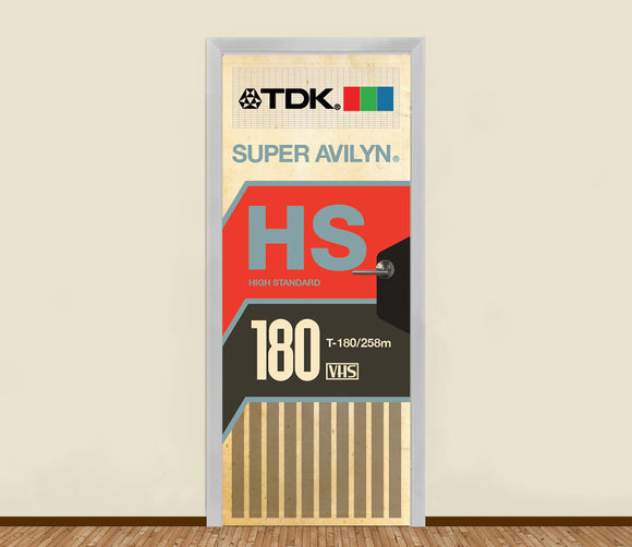 80's VHS Tape Residential Door Art - LA31 Store