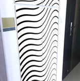 Black & White Waves Utility Cabinet Art (4pieces) - LA31 Store