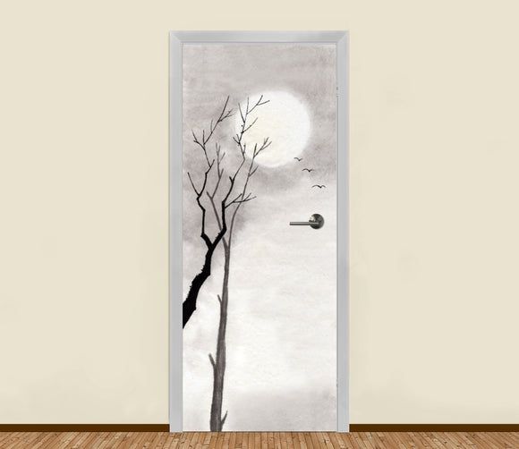 White Winter Sun Residential Door Art - LA31 Store