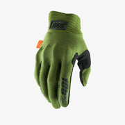 100% - COGNITO Glove Army Green/Black