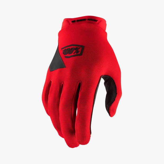 100% -RIDECAMP Red Gloves