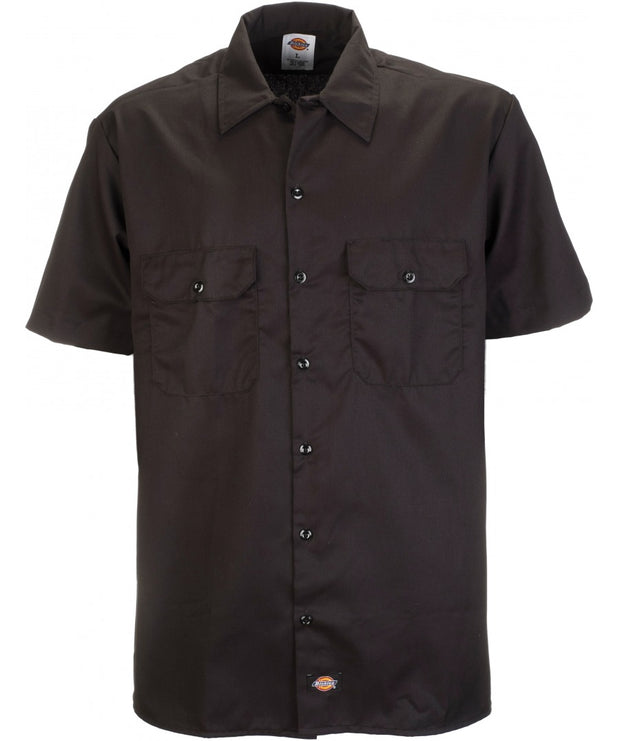 DICKIES SHORT SLEEVE WORK SHIRT - BLACK - Speed Hunter SG