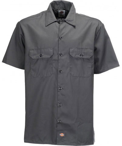 DICKIES SHORT SLEEVE WORK SHIRT - CHARCOAL GREY - Speed Hunter SG