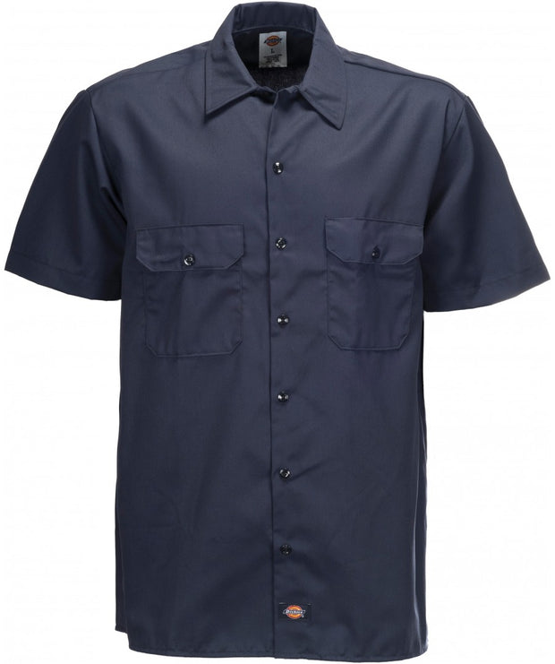 DICKIES SHORT SLEEVE WORK SHIRT - DARK NAVY - Speed Hunter SG