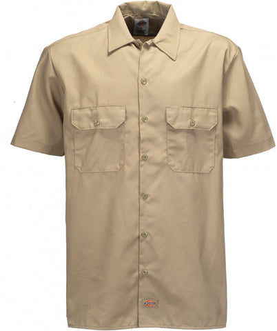 DICKIES SHORT SLEEVE WORK SHIRT - KHAKI - Speed Hunter SG