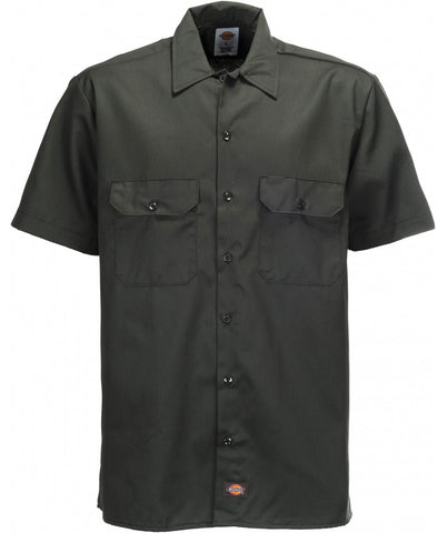 DICKIES SHORT SLEEVE WORK SHIRT-DARK GREEN - Speed Hunter SG