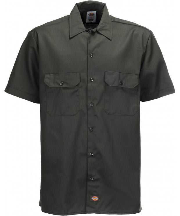 DICKIES SHORT SLEEVE WORK SHIRT - DARK GREEN - Speed Hunter SG