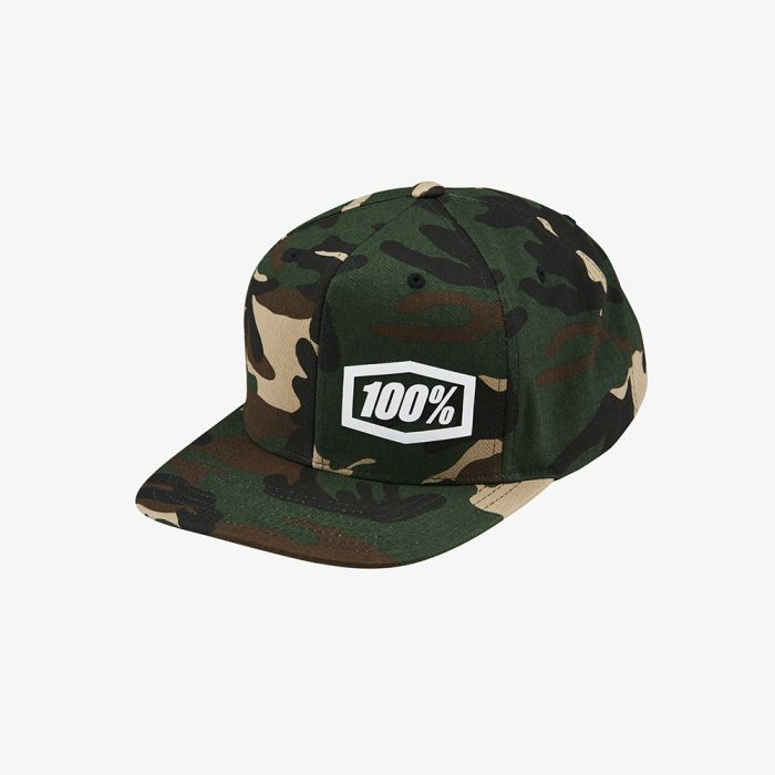 100% MACHINE Snapback Hat - Camo
