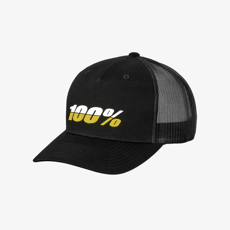 100% LEAGUE X-Fit Snapback Black