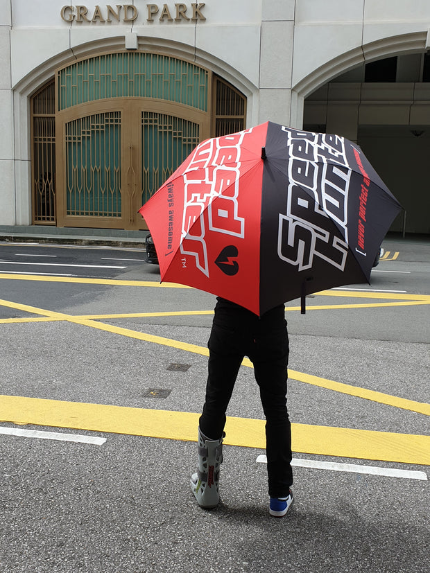 RACE UMBRELLA RED / BLACK