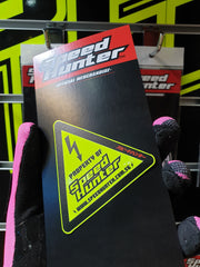 SPEED HUNTER - WARNING STICKER NEON YELLOW