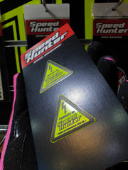 SPEED HUNTER - MINI WARNING STICKER NEON YELLOW