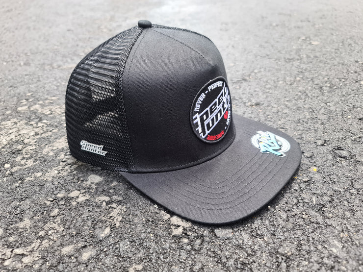 (WITH ENAMAL PIN ) SPEED HUNTER NURBURGRING SNAPBACK WHITE CAP