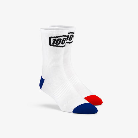 100% TERRAIN Socks - White - Speed Hunter SG