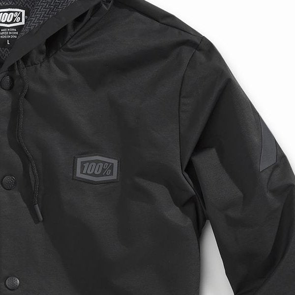100% - APACHE Water-resistant Hooded Snap Jacket