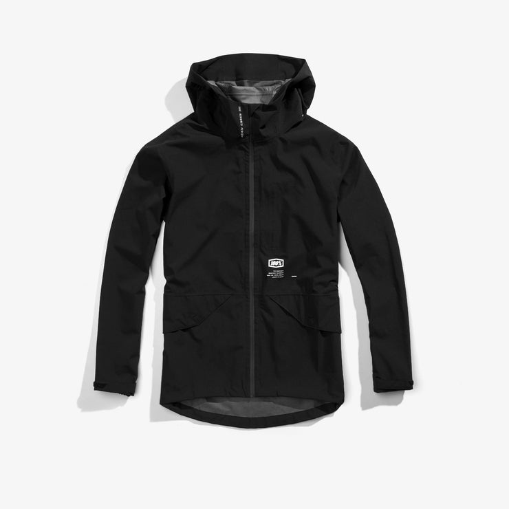 100% - HYDROMATIC PARKA LIGHTWEIGHT WATERPROOF JACKET - BLACK