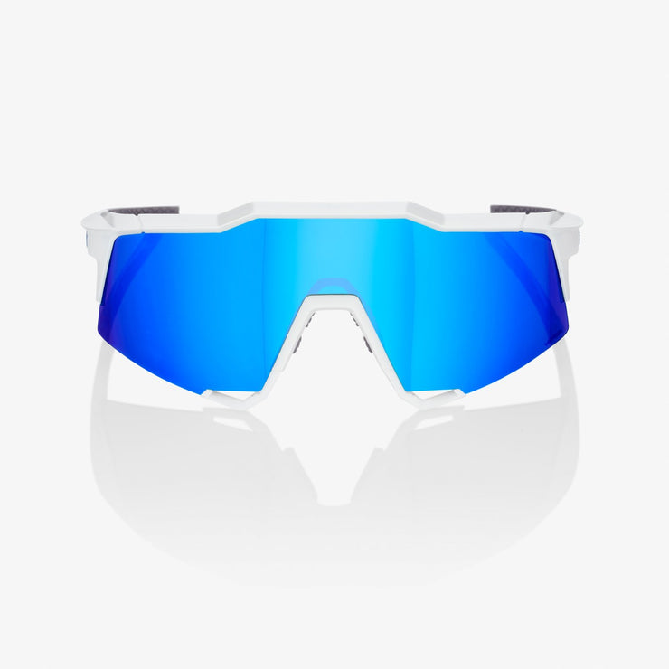 SPEEDCRAFT® Matte White HiPER® Blue Multilayer Mirror Lens + Clear Lens Included