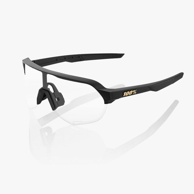 S2® Matte Black Soft Gold Mirror Lens + Clear Lens Included