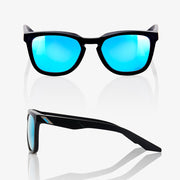 HUDSON Matte Black HiPER® Blue Multilayer Mirror Lens