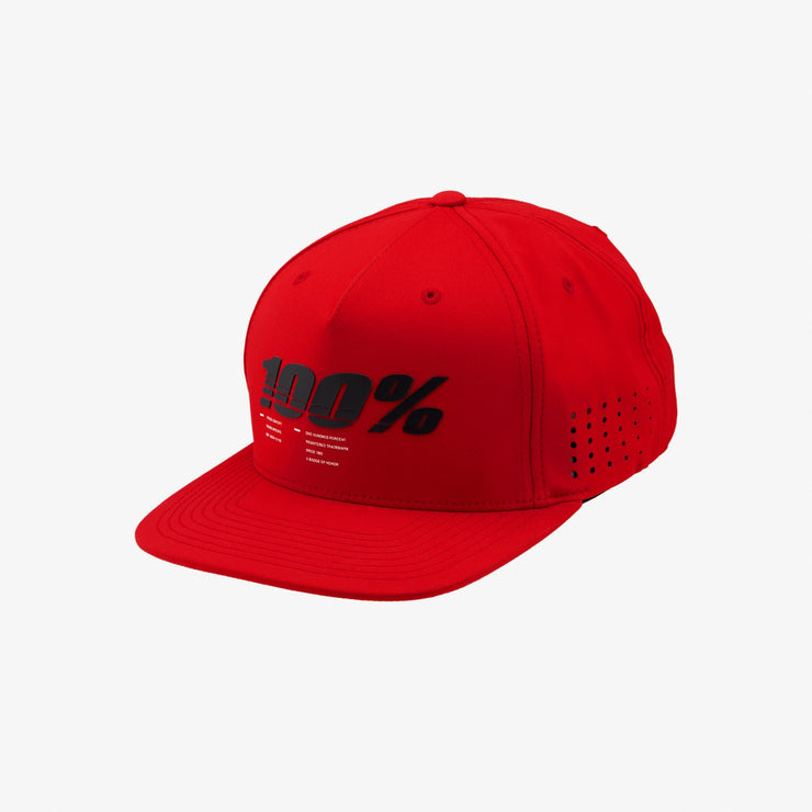 100%  DRIVE Snapback Red