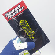 SPEED HUNTER - NEON RUBBER KEYRING