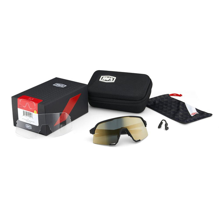 S3® Soft Tact Black Soft Gold Mirror Lens + Clear Lens Included