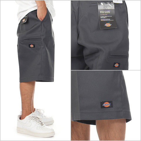 DICKIES LOOSE FIT 13 INCH SHORT - SILVER - Speed Hunter SG