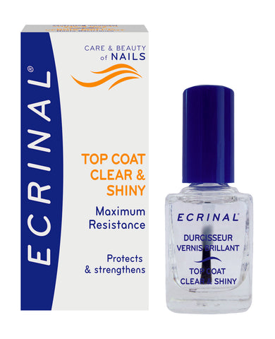 Nail Strengthening Clear & Shiny Topcoat - Ecrinal®