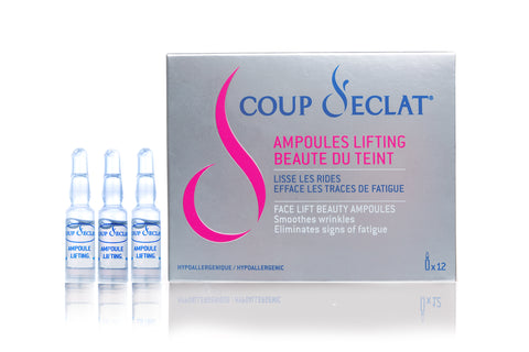 Face Lift Ampoules lasting eight (8) hour lifting - Coup d'Eclat