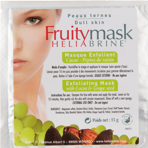 Mask Face Exfoliating Cream Mask Cocoa & Grape Seed Oil - Heliabrine