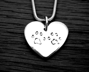Large Paw print jewellery prices starting from....
