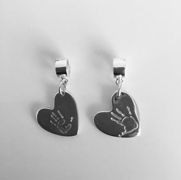 Extra small handprint or footprint charms prices starting from....