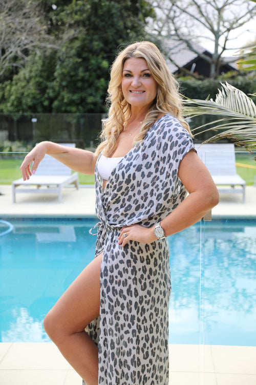 Capri Dress - Large Leopard Print