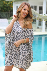 Over it Dress/Top - Large Leopard Print