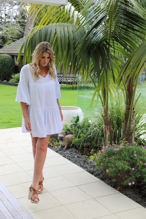 Beach Chic Dress -  White