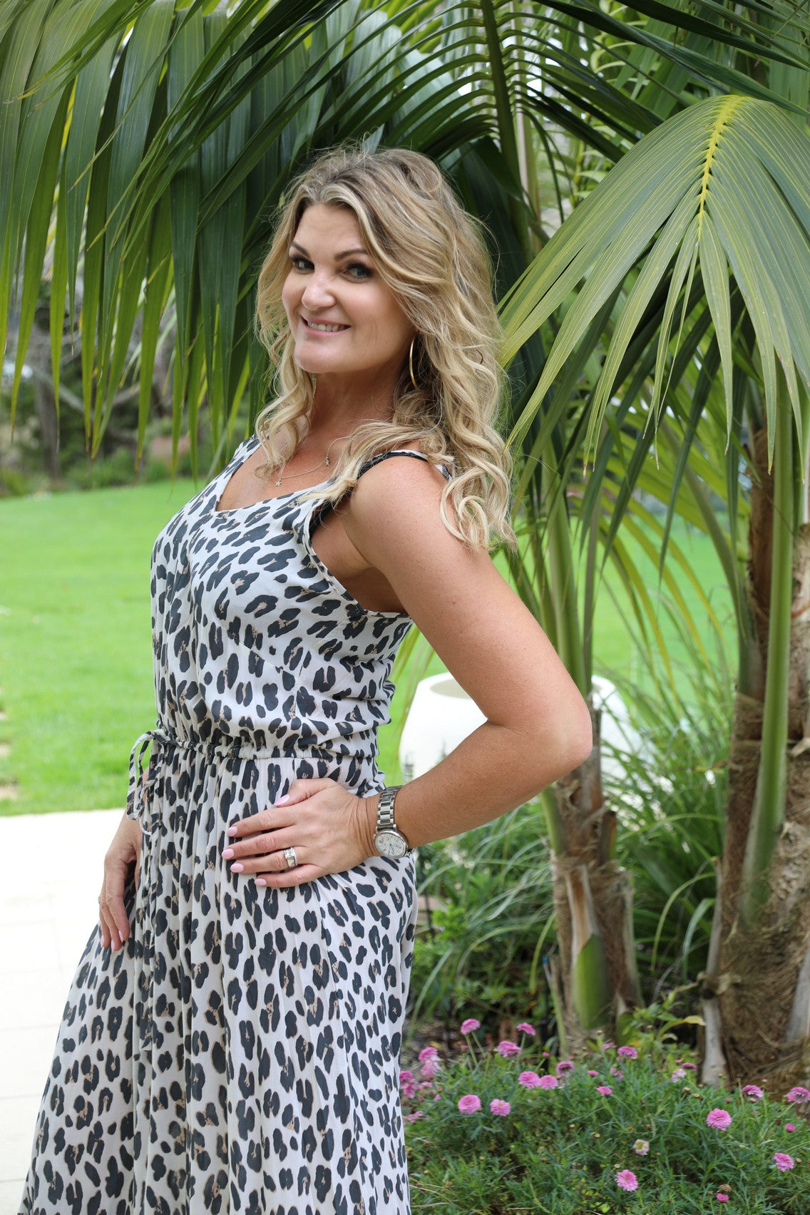 Shoestring Sandy Maxi Dress - Large Leopard Print