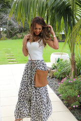 Lovely Long Frill Skirt - Large Leopard Print