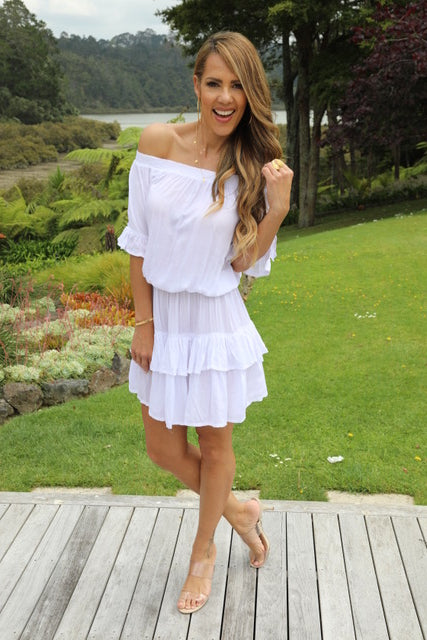 Little Frill Dress - White
