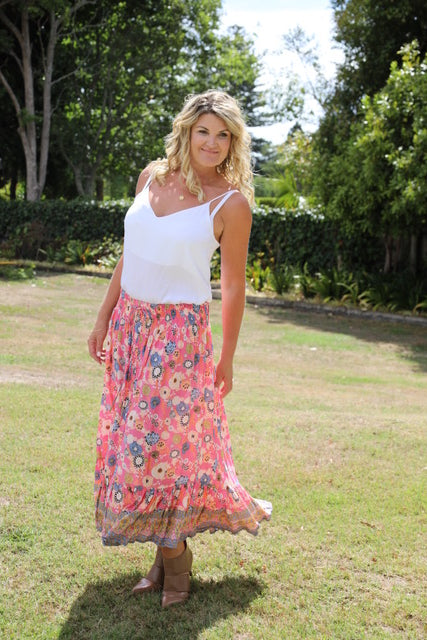 Float my Boat Skirt - Stunning Pink Floral